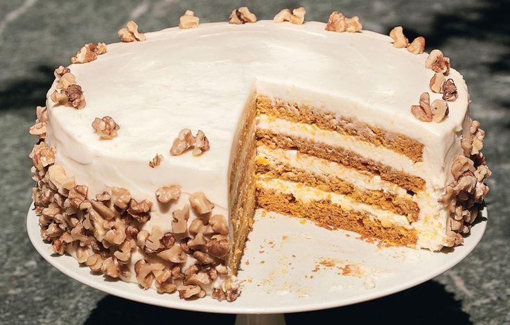 Four-Layer Pumpkin Cake with Orange-Cream Cheese Frosting | Recipe