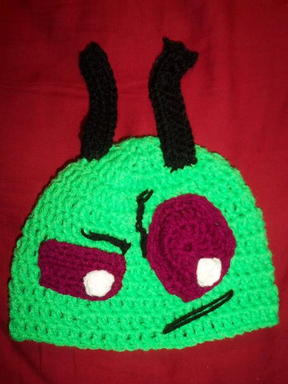 Crochet Invader Zim Patterns : Crocheted Invader Zim Hat
