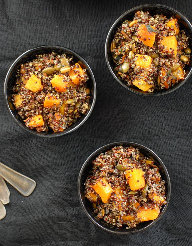 Black Quinoa with Brown-Butter Sage Butternut Squash and Pepitas | Re ...