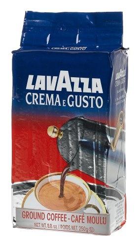 Lavazza Crema e Gusto Ground Coffee, Italian , 8.8-Ounce Bricks (Pack of 4)