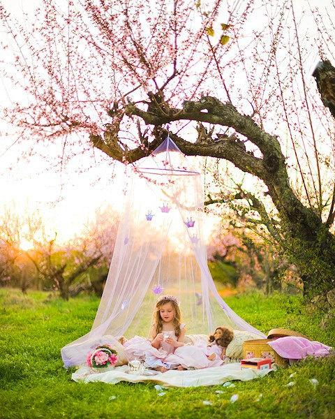 Peach tea party princess photograph Princess by fairyography