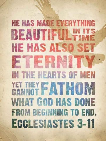 #Scripture                            Ecclesiastes 3-11