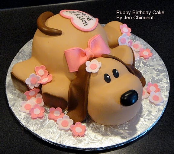 Cute dog birthday cake  Birthday/Showers/Parties  Pinterest