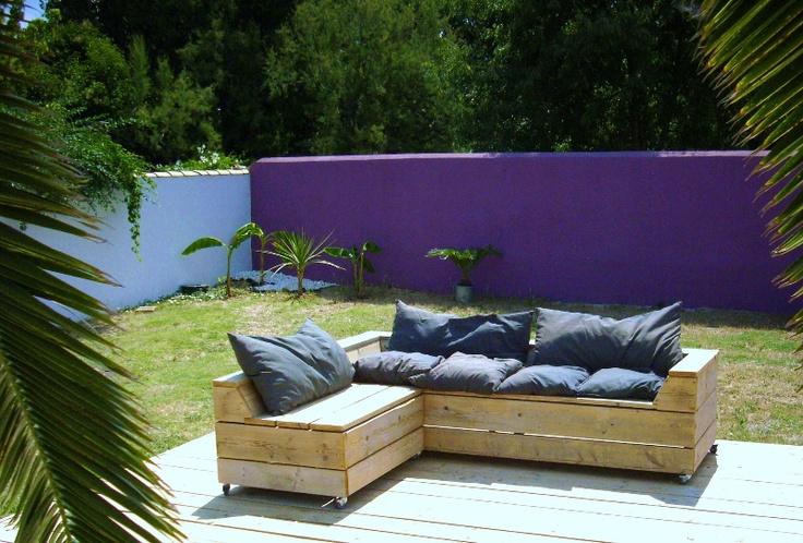 Fauteuils de jardin fait en palettes pallet pinterest - Fauteuil de jardin en palette ...