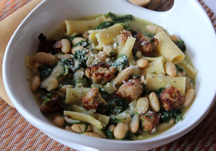 country pasta with sausage and spinach   pasta   Pinterest