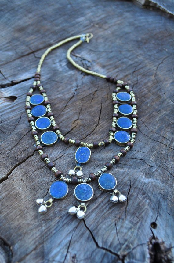 Afghani Tribal Lapis Inlay Necklace