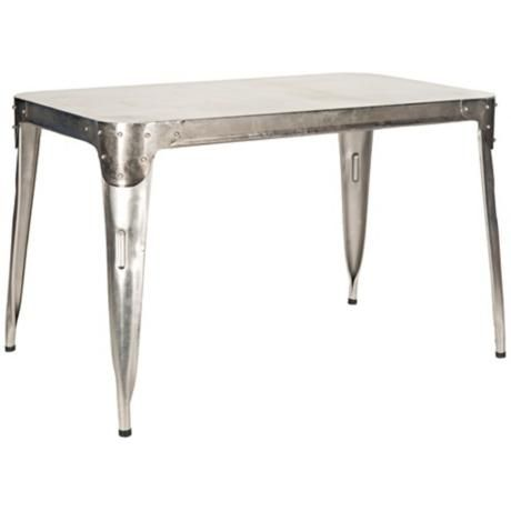 Safavieh Weston Dark Antique Silver Dining Table