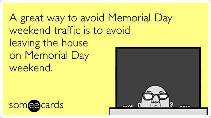 avoid memorial day traffic