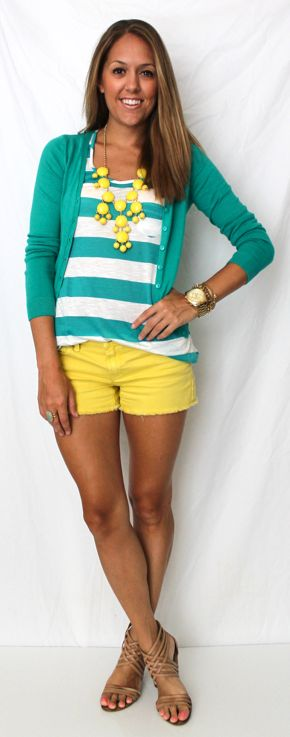 Teal and yellow