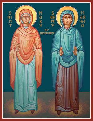 Mary and Martha, sisters of Lazarus