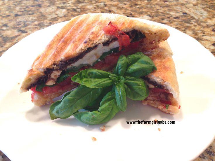 Fresh Herbs: Caprese Panini with Fresh Mozzarella, Basil & Tomato