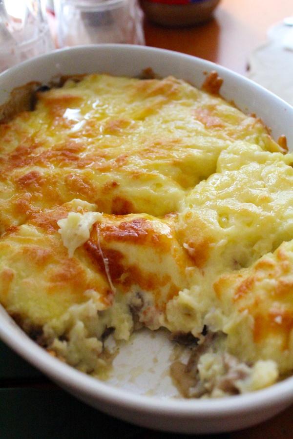 mash potato and garlic mash room gratin | My Recipes | Pinterest
