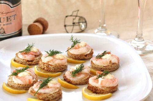 Shrimp canapes food pinterest for Shrimp canape ideas