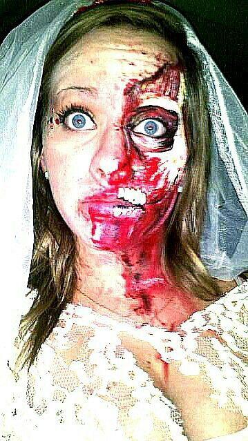 Zombie bride halloween makeup zombie bride and groom ...