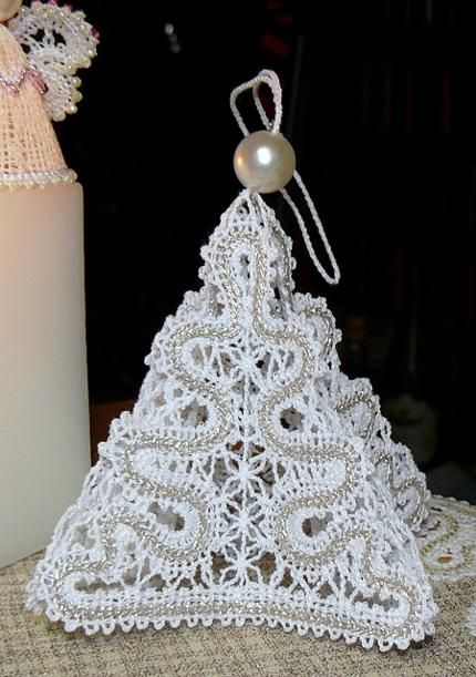 Advanced Embroidery Designs - FSL Battenberg  Lace Ornament