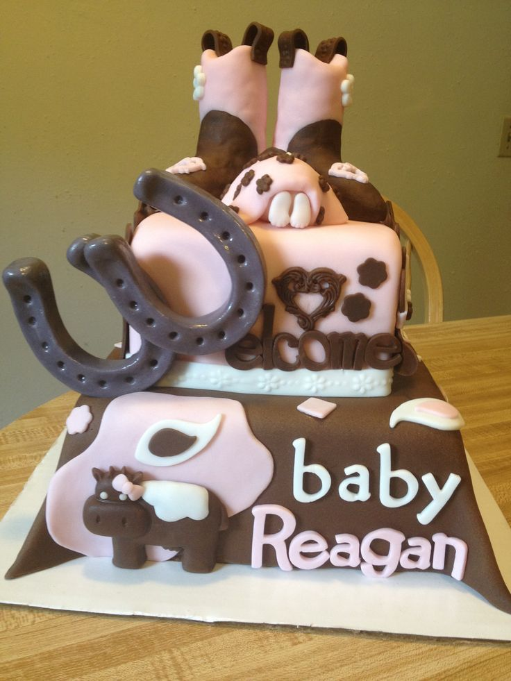 cowgirl baby shower cake baby shower pinterest