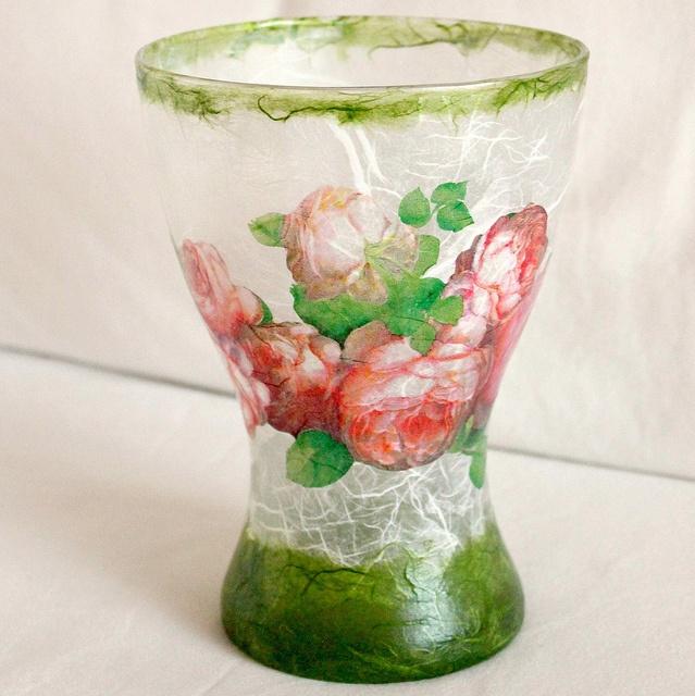 decoupage glass vase glass vase decoupage decoupage it