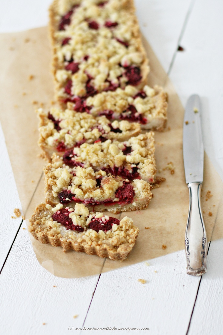 Raspberry Crumble Tart | tarts | Pinterest