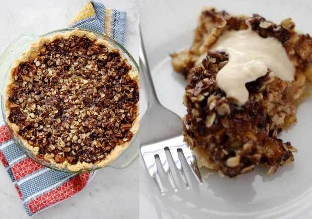FRENCH APPLE PIE - apple cream cheese pie with streusel top