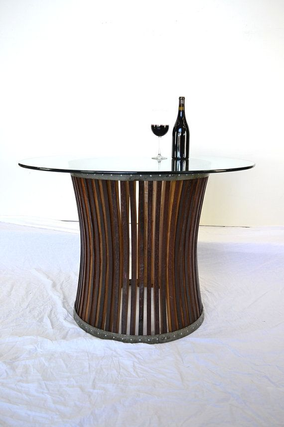 Wine Barrel Dining Table CRAFTSMAN Concave 100 Recycled Napa Barrels
