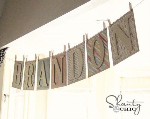 Diy Banner Baby Shower Pinterest
