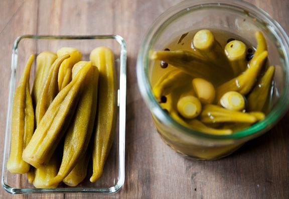 pickled okra recipe | use real butter | Canning, Pickling, Jams, Jell ...