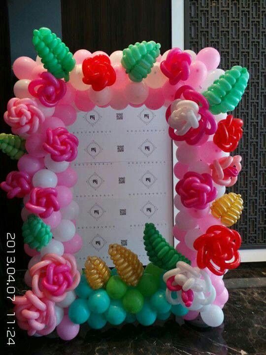 Balloon Flower Wall Decoration : Balloon flower decor ideas