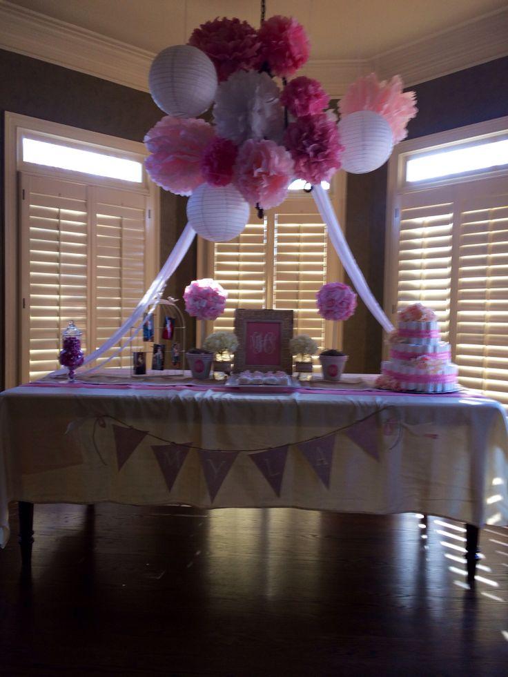 baby girl shower set up baby harris pinterest