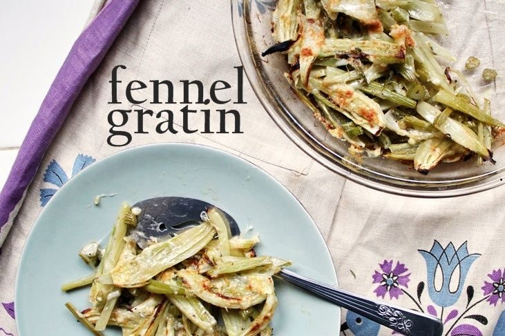 Fennel Gratin Recipe (recommended by Joie)