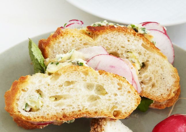 Shaved Radish (or Cucumber) Sandwiches with Herb Butter (from: 5/12 ...