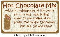 hot chocolate jar mix