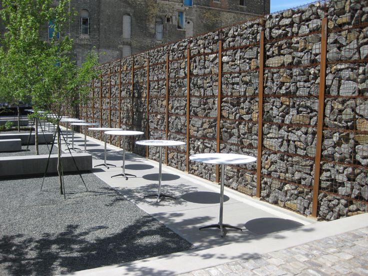 Gabion Wall Exposed Posts Arquitectura Muros Pinterest