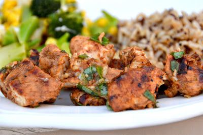 Processed Free and Me: Lime Marinaded Chicken with Basil Lime Sauce
