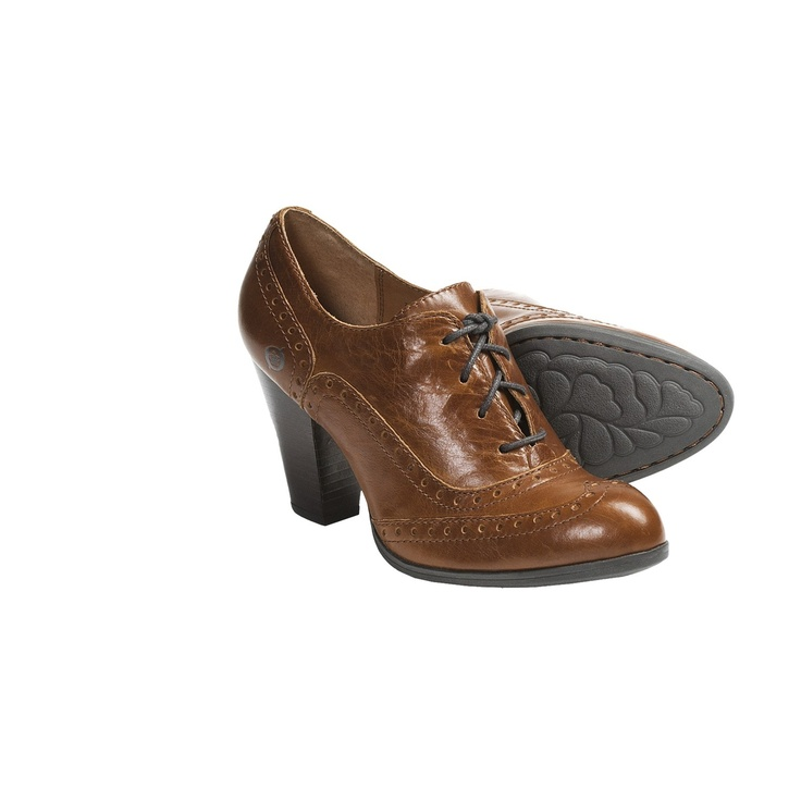 born waverly high heel oxford shoes leather for
