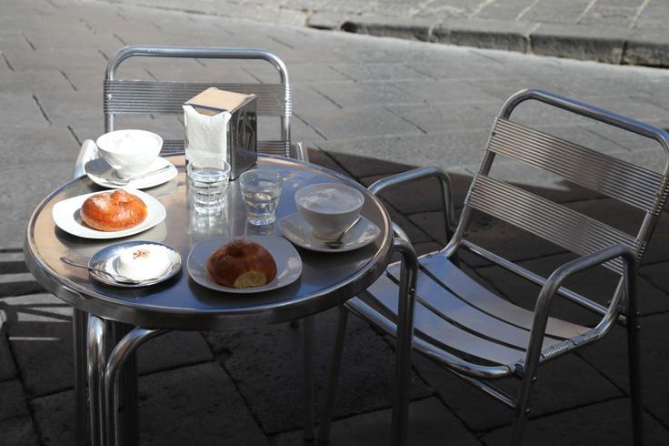 Sicilian breakfast with brioche and almond granita at Caffe Sicilia ...
