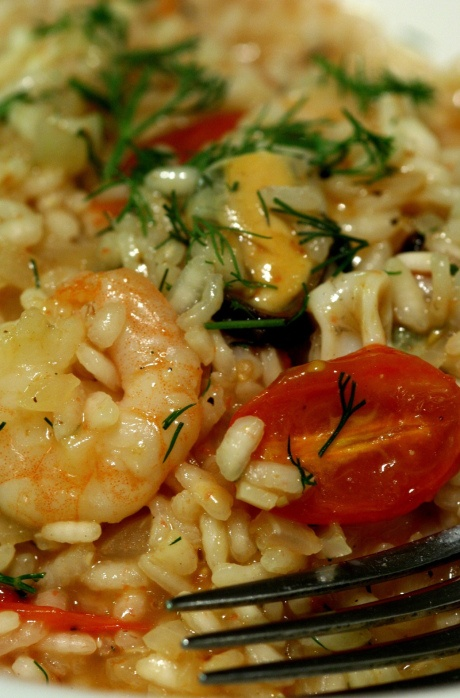 ... risotto with roasted tomatoes, orange and fennel by the gluten-free