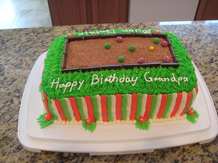 Birthday Cake Images For Father In Law : birthday bocce cake for my father-in-law 30 Pinterest