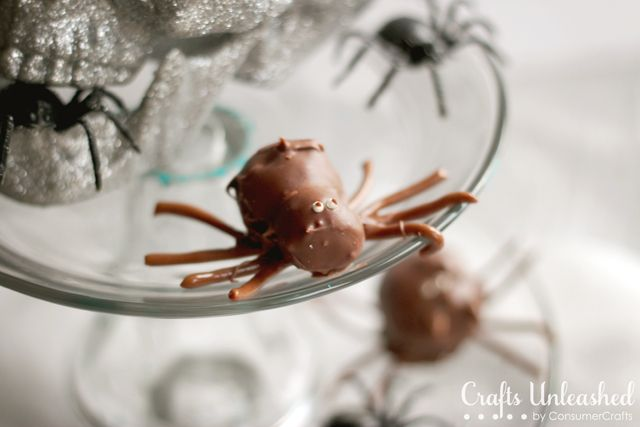 Make creepy crawly spider cake balls for your Halloween party!