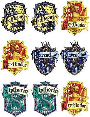 harry potter house badges hogwarts express pinterest