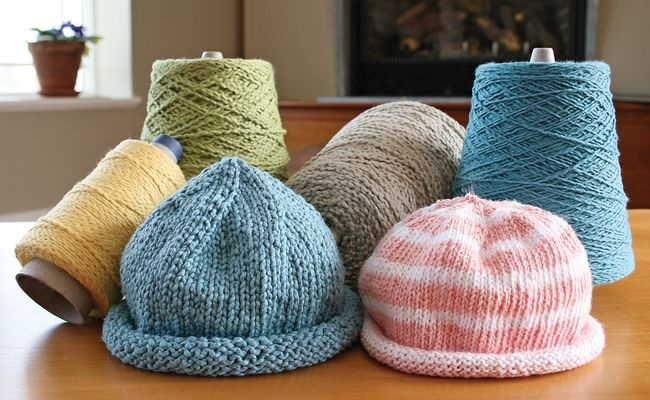 Casco Bay Baby Roll Brim Hat Pattern Knitting Pinterest