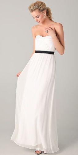 Amber Strapless Cascade Gown