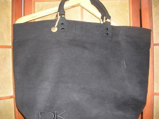 Donna Karan DK Black Tote Bag 100% Polyester (FREE SHIPPING)-$10.50