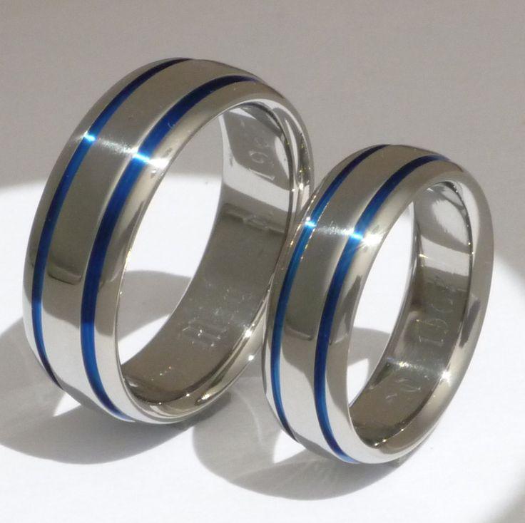 titanium ring set his and hers matching titanium wedding
