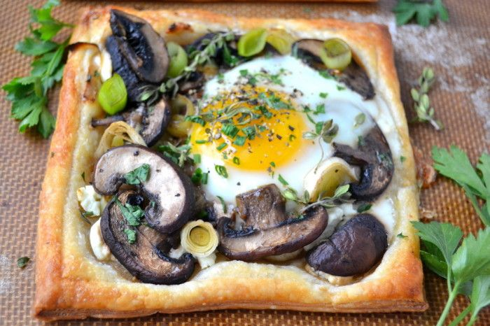 Egg And Cheese Breakfast Muffins With Mushrooms And Thyme Recipe ...