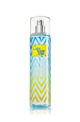 Capri Seaside Citrus Fine Fragrance Mist, love the variegated chevron pattern!