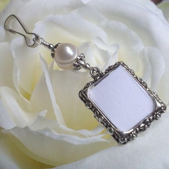 wedding bouquet photo charm freshwater pearl