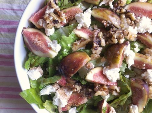 Recipe: Fig, Goats Cheese and Walnut Salad with Honey and Sea Salt ...