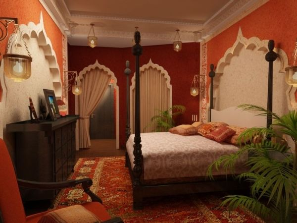 Bedroom in indian style home decor pinterest for Bedroom designs indian style