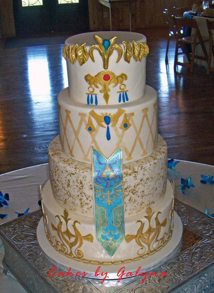 Legend of zelda wedding cake legend of zelda wedding for Legend of zelda wedding dress