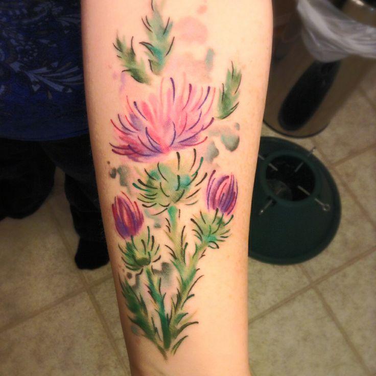 Scottish Thistle Tattoo Ideas: Scottish Thistle Tattoo